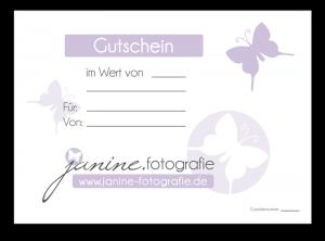 Gutschein Aktion Janine Fotografie Fotostudio Kaiserslautern - Enkenbach-Alsenborn